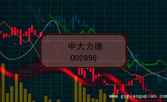 中大力德的股票代码是(002896)